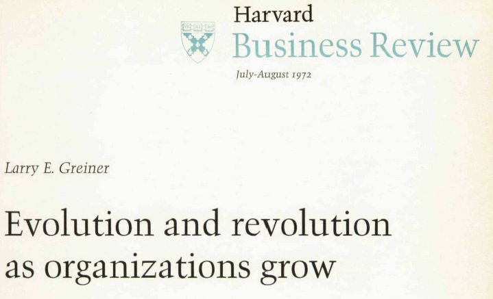 evolution and revolution as organizations grow